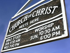 churchofchristsign