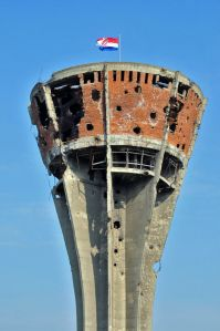 Vukovar watertower after the war